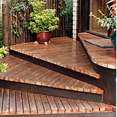 garden decking at wooden landscapes